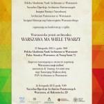 Powiększ zdjęcie Warszawa ma wiele twarzy - zaproszenie